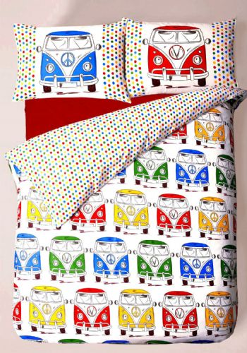 Campervan Caravan Reversible Trendy Themed Design Bedding Duvet Cover Set
